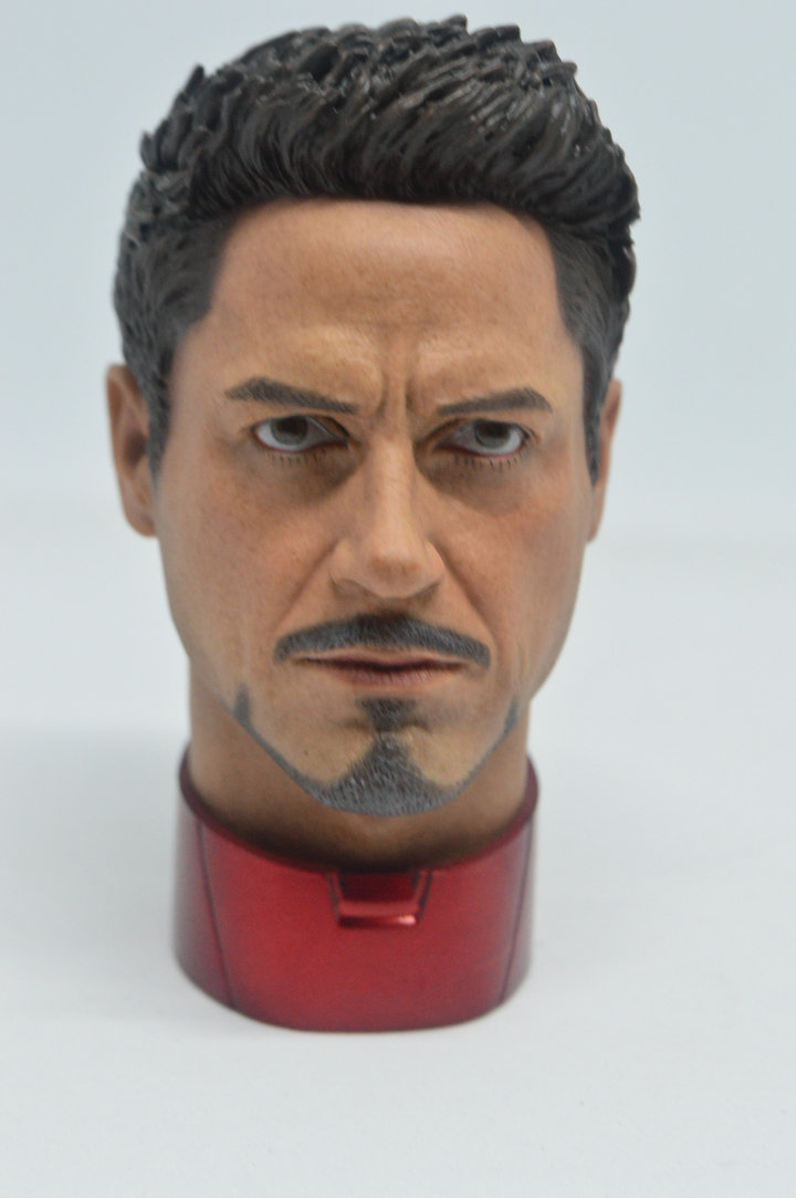 hot 1 4 Scale Tony Stark Head Sculpt For Hot Toys MK43 MK45