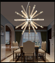 Nordic Spider star planet bubble crystal chandelier restaurant dining room bar hanging lighting(China)