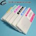 Nuevo depósito de tinta compatible cartucho de fuji dx100 con resistente uv tinte recarga de tinta y el chip