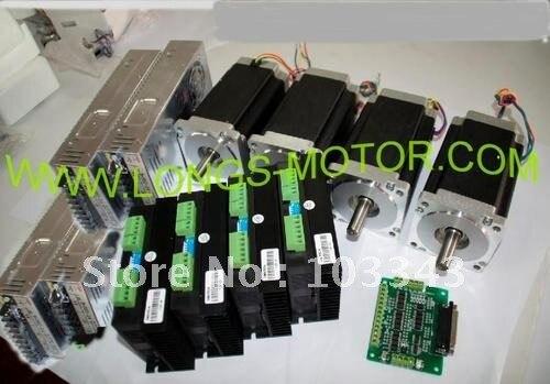 DE BATEAU 4 Axes Nema 34 Stepper Motor 1232OZ-IN 34HS1456 & driver DM860A & 3 pcs puissance CNC PLASMA et Mill longs moteur