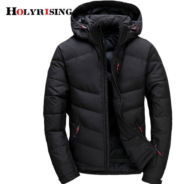 Holyrising 2018 Fashion Brand Winter Men Down jacket Casual Mens Down jacket And Coats Parka casaco masculino inverno 18469-5