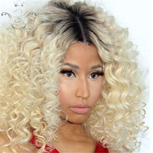 short curly wigs for black women blonde ombre full lace wig human hair  curly wigs ombre two tone blonde curly lace wig  1bT 613 a92c508dae