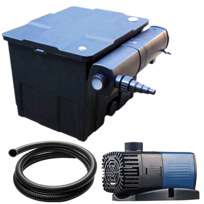 SUNSUN CBF 350 كوي الأسماك بركة صندوق مرشح ، توزيع المياه معدات تنقية. أجهزة تنقية المياه التي يمكن حملها الأشعة فوق البنفسجية مبيد للجراثيم أنابيب.-في فلاتر وملحقات من المنزل والحديقة على  مجموعة 1