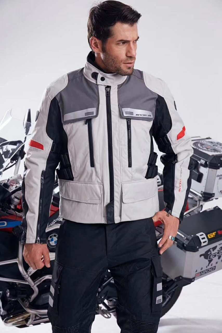 NEW 2017 REVIT SAND sand jacket Mens Motorcycle Racing Jacket Black/red/gray Motorbike Motorcycle Jacket alex evenings new black jacket msrp $ 179