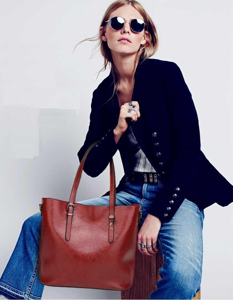Designer mulher bolsas de couro genuíno sacos para as mulheres 2019 moda ombro senhoras satchel do vintage feminino mensageiro sacos n423
