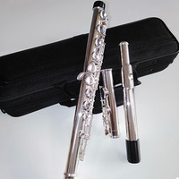 Top Japan flute 471 16 Holes Silver Plated Transverse Flauta obturator C Key with E key music instrument Dizi