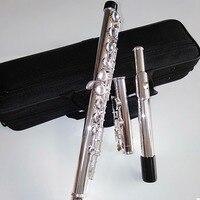 Top Japan flute 471 16 Holes Silver Plated Transverse Flauta obturator C Key with E key music instrument Dizi