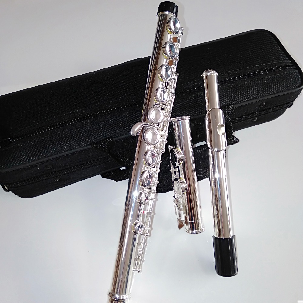 Top japon flûte YFL 471 16 trous argent plaqué transversal Flauta obturateur C clé avec E clé instrument de musique Dizi