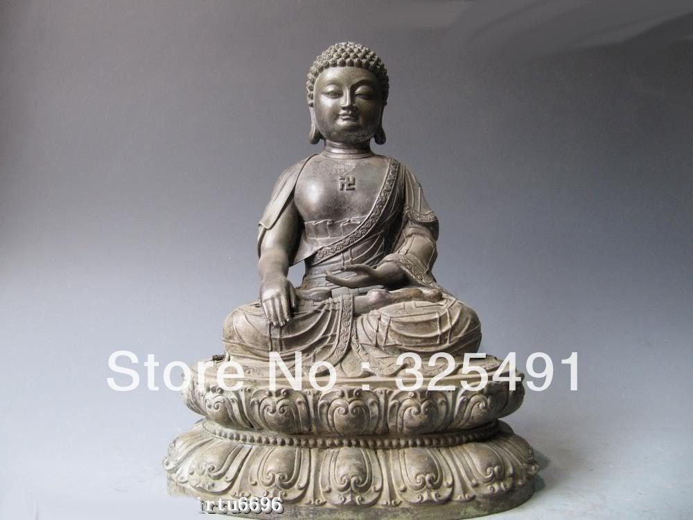 Temple du Tibet culte populaire pur Bronze Tathagata Sakyamuni Amitabha bouddha Statue zTemple du Tibet culte populaire pur Bronze Tathagata Sakyamuni Amitabha bouddha Statue z
