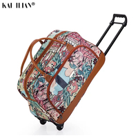 24'' travel bag Trolley suitcase on wheels carry ons rolling luggage Women hand big luggage bag concise fashion trolley bags