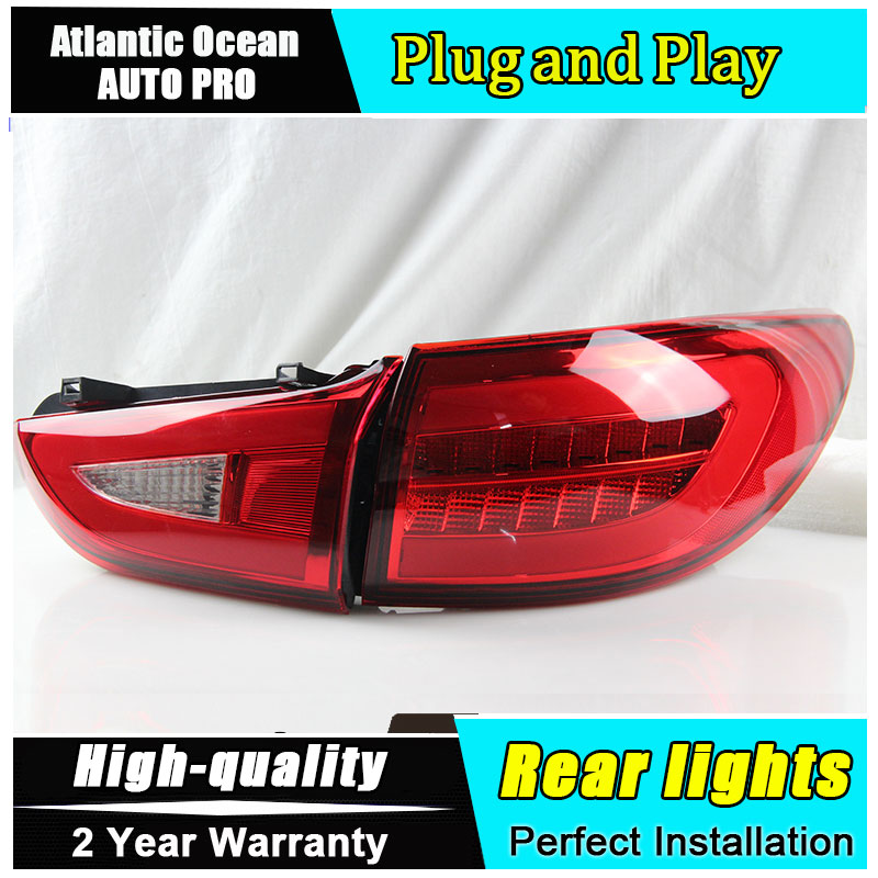 AKD Car Styling Accessories for Mazda 6 LED Taillights 2013-2016 for Mazda6 Tail Lamp Rear Lamp DRL+Brake+Park+Signal led lights akd car styling led drl for toyota corolla 2014 2015 new altis eye brow light led external lamp signal parking accessories