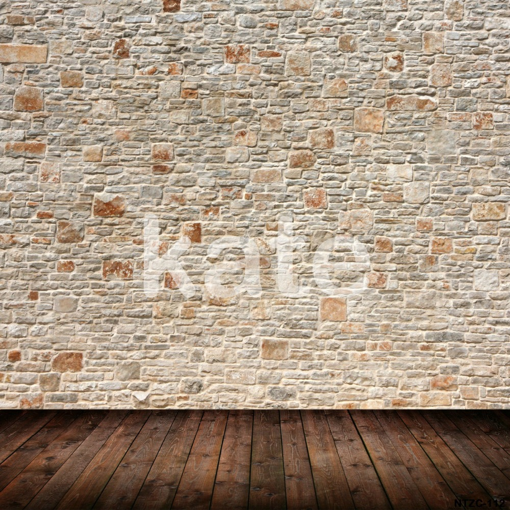 Kate Gray Wood and Brick Wall Photography Background  Retro Backgrounds for Photo Studio Photography Backdrops Background allenjoy photography backdrops white and gray brick wall brick floor backgrounds for photo studio photography studio backgrounds