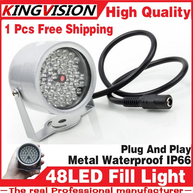 8.28biggest Sale!48LED Illuminator IR Infrared dome hd Night vision enhancement Fill light Vision 40M Lamp Securit 850nm 12V ir illuminator 48led dc12v 850nm white