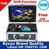 Free Shipping Eyoyo Original 15M 1000TVL HD CAM Professional Fish Finder Underwater Fishing Video Recorder DVR