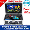 Free Shipping Eyoyo Original 15M 1000TVL HD CAM Professional Fish Finder Underwater Fishing Video Recorder DVR