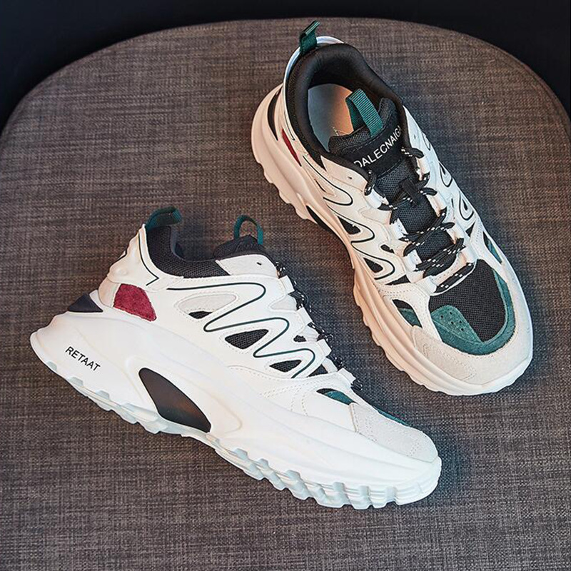 Nuevos Coreanos Gruesa Verde Y De blanco Otoño Antiguos Zapatos Salvaje rojo 2018 Mujer Suela Primavera qxgw8zpHf