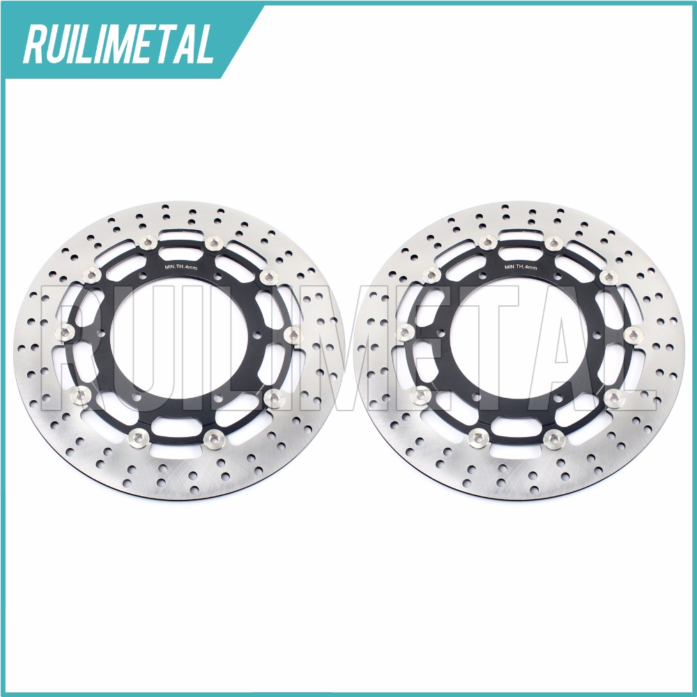 Pair Front Brake Discs Rotors for  XVS 950 A MIDNIGHT STAR SE  YZF R7 750 FJR 1300 ABS AE AS  MT01 1670 2005 2006 05 06