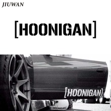 JIUWAN 25*5.5cm Car Styling HOONIGAN Sticker Ken Block Rally Racing Drift Vinyl JDM Auto Window Cool Fashion Decal Accessories(China)