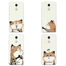 For Xiaomi Max Note 2 Shell Redmi 3 Note 4 Pro Phone Case Mi 4 4i 4c 4s 5 Transparent Cover Soft Silicon Sesame Fox Pattern Skin