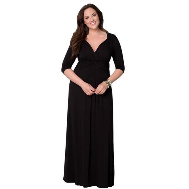 Black maxi dresses size 6