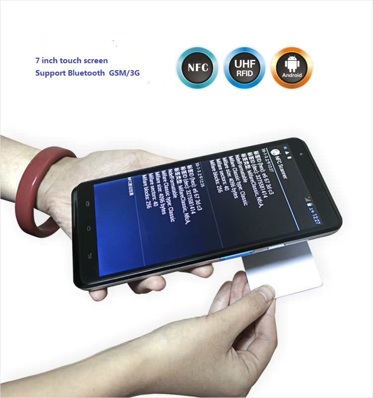 LS7S(UHF) handheld 7'' Android industrial mobile terminal PDA UHF NFC reader with 3G,GPS,Bluetooth LS7(UHF)