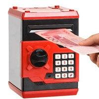 185x130x120mm جديد أحمر معدني أصبع المال الهاتف كشك الاطفال عملة الادخار مربع المال إنقاذ صندوق الأطفال هدية لعب