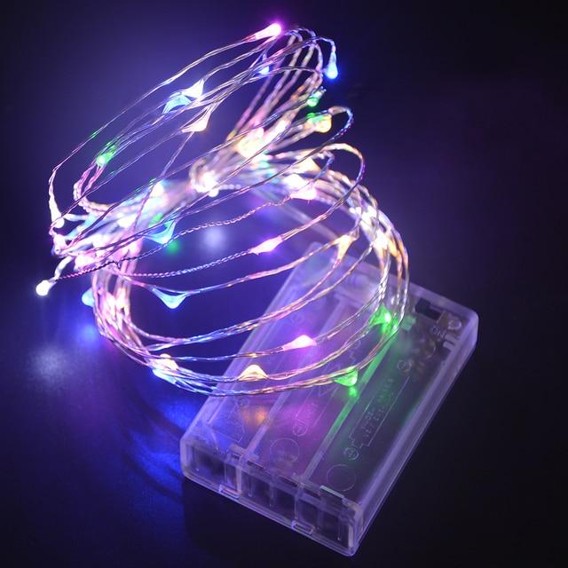 5 M 50 LED String Lights 9 Kleuren Mini LED Lamp Zilver kleur ...
