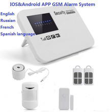 Wi-fi GSM house safety gsm alarm sistem android telephone app gsm alarm programs safety house door alram sensor package Russian SMS
