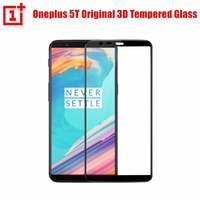 Oneplus 5t 3D Tempered Glass Screen Protector Black 100 Original Official From Oneplus Company