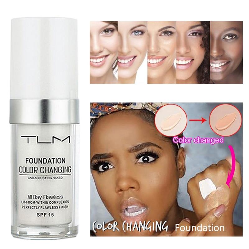 TLM Colour Changing Warm Skin Tone Foundation Makeup Base