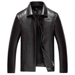 2015 autumn genuine leather jacket men 100 sheepskin jacket men fashion lapel brand spring jacket jaqueta.jpg 250x250