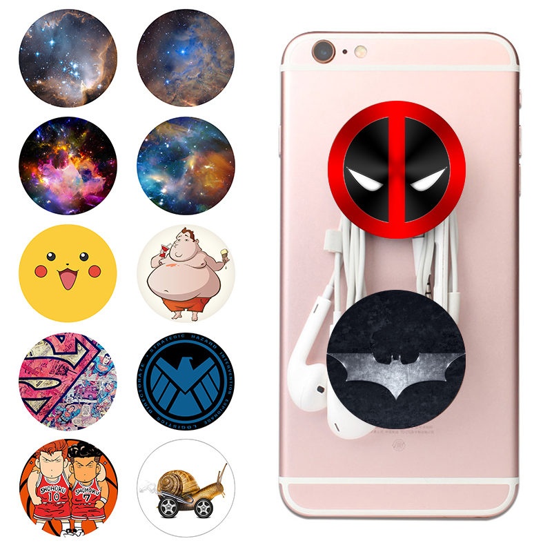 Marvel Popsoket Bracket Pops Phone Holder Finger Ring Popsocet Mobile Попсокет Hand Grip Smartphone Expand Stand Pocket Socket