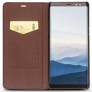 Image 2 - QIALINO Moda Copertura del Cuoio Genuino per Samsung Galaxy Note 8 Slot Per Schede di lusso Ultrasottile Della Cassa del Sacchetto per Galaxy note 8 6.3 inch