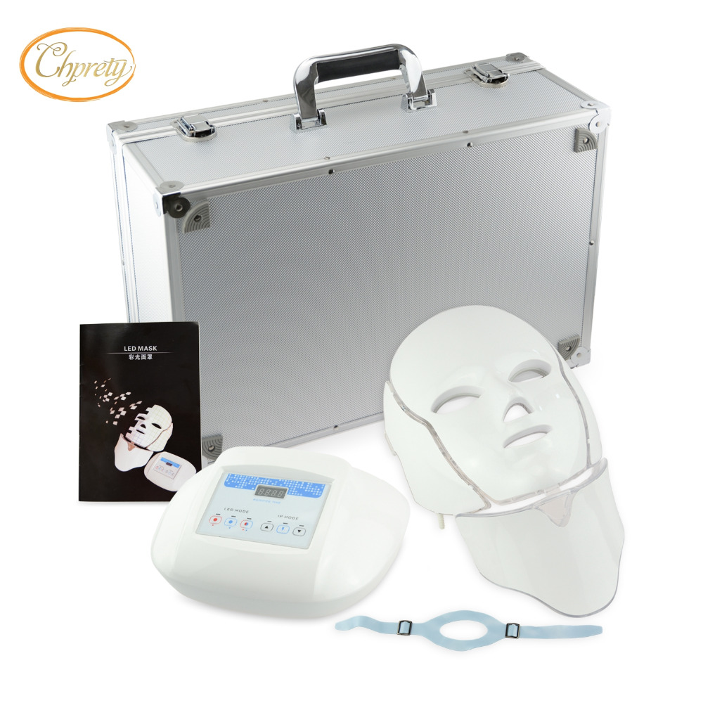 цены на Home or Spa Use PDT Machine 3 color Infrared Light Wrinkle Remove Acne Treatment Skin rejuvenation LED photon facial mask