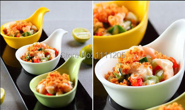 5pc Melamine Sauce Bowl Cup with Handle 5cm Ice cream spoon bowls pudding spoon dessert tray