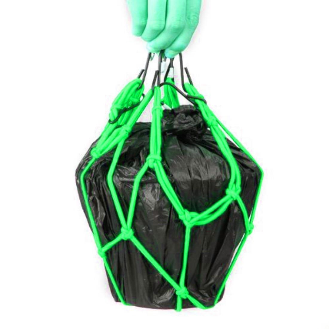 Dewtreetali 30*30cm Motorcycle Bike 6 Hooks Hold down Fuel Tank Luggage Net Mesh Web Bungee Green Color