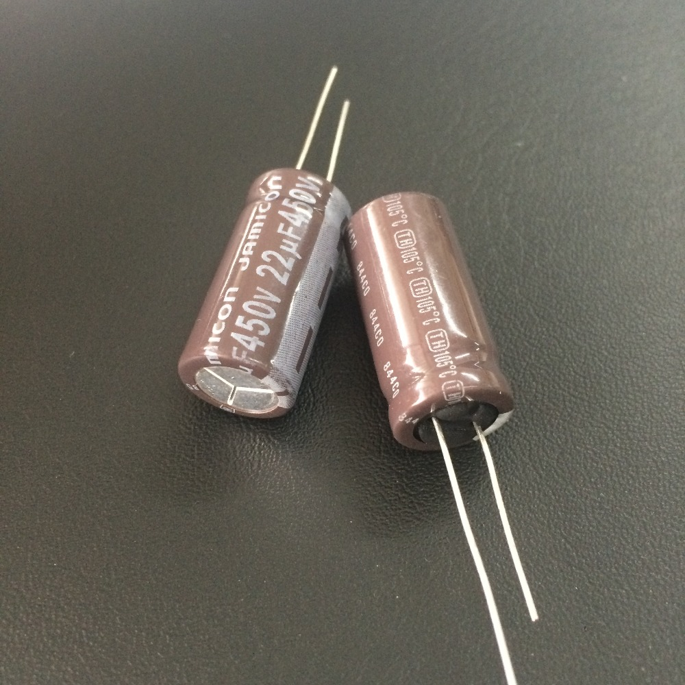 50pcs 22uF 450V JAMICON TH Series 12.5x25mm Low ESR Long Life 450V22uF Aluminum Electrolytic Capacitor