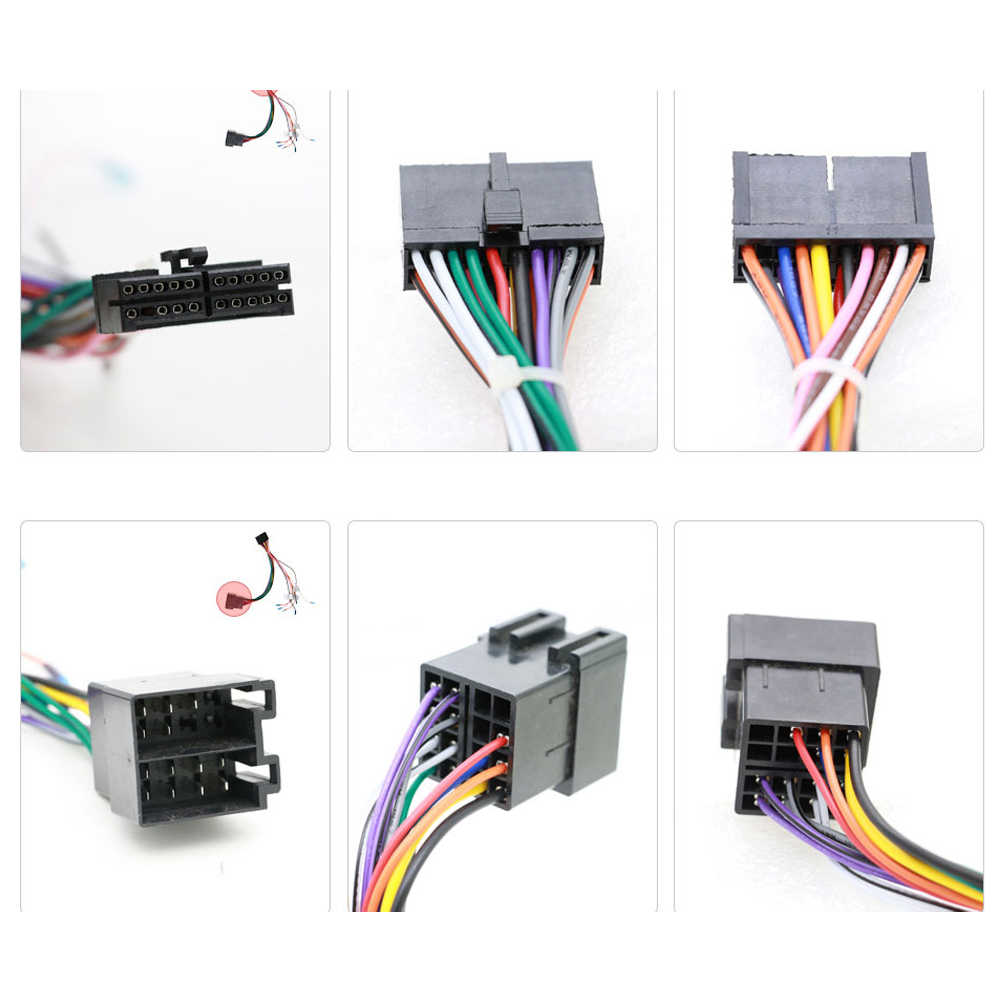 1 set universal female iso wiring harness car radio adaptor connector wire plug and play [ 1000 x 1000 Pixel ]