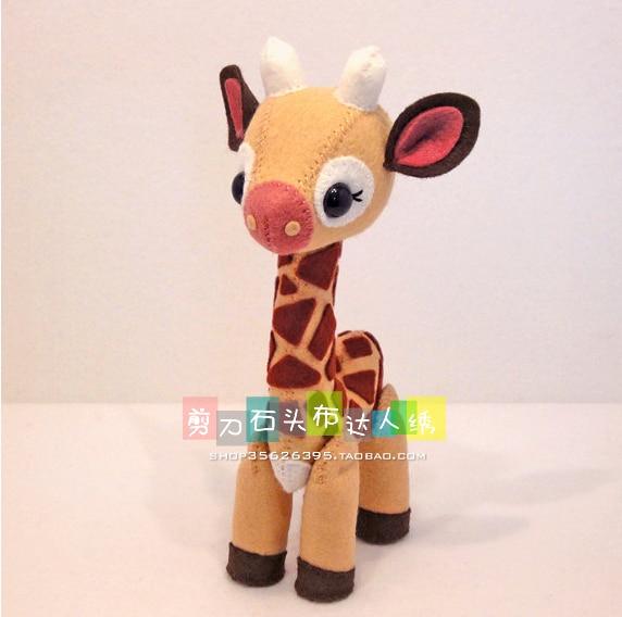 DIY stereo animal doll giraffe toys Fabric Felt kit Non-woven cloth Craft DIY Sewing set Handwork Material DIY needlework suppli