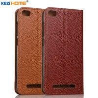 Case For Xiaomi Redmi 3 KEZiHOME Genuine Leather Flip Stand Leather Cover For Xiaomi Redmi 3