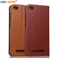 Case For Xiaomi Redmi 3 KEZiHOME Genuine Leather Flip Stand Leather Cover For Xiaomi Redmi 3