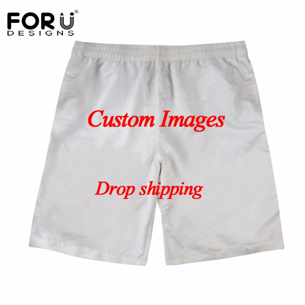 FORUDESIGNS Custom Images Or Logo Quick Dry Summer Men Board Shorts Mens Siwmwear Shorts Beach Wear Pants For Men Drop Shipping