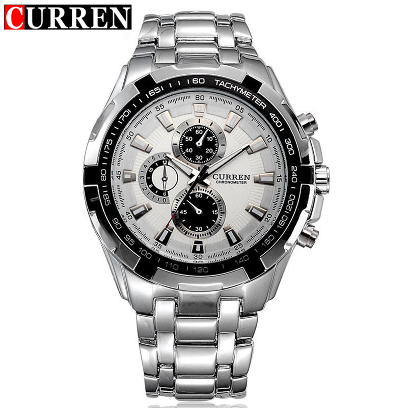 CURREN Men Watch Top Brand Men Business Quartz Watch Fashion Casual Analog Military Sport Watch men Waterproof Relogio Masculino curren men s fashion and casual simple quartz sport wrist watch