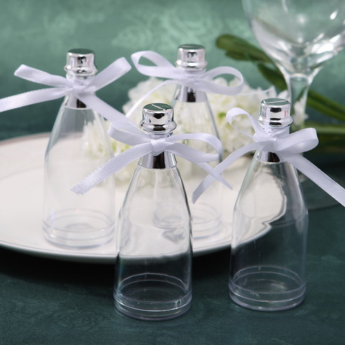Free Shipping 24pcs Champagne Bottle Wedding Favor Boxes Candy Box ...