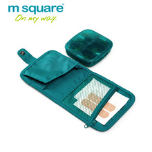 M Square Travel Accessories for  Pill Box Bag Medicine Splitters Storage Holder Pillbox Container  Pill Boxes and Organizer Case