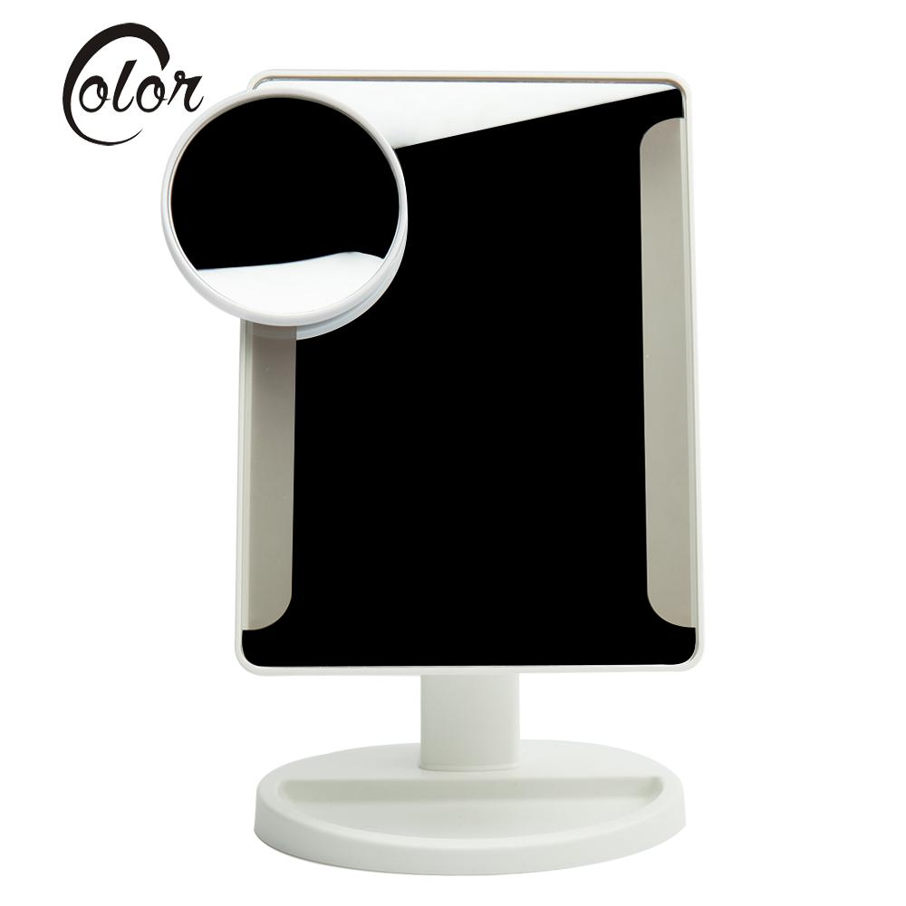 Adjustable 36 Led Light Makeup Mirror With Sucker 10x