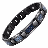 Hottime Fashion Jewelry Bracelets Bangles Bio Energy Healing Titanium Magnetic Bracelet Men Jewelry Love Bracelet Gift
