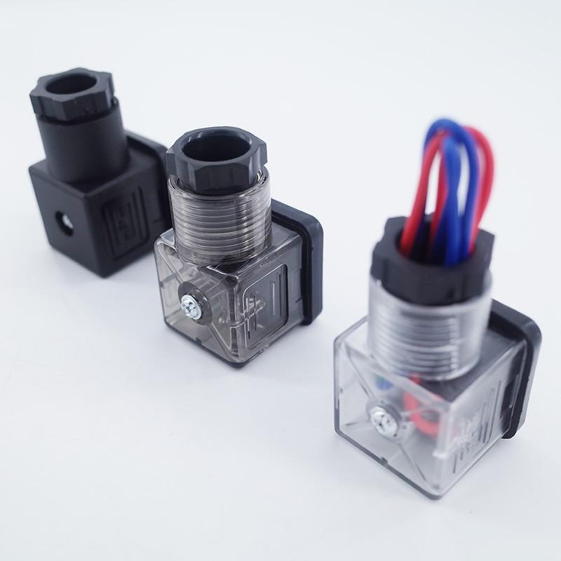 GOGO Plug Solenoid Valve Connector,DIN43650 Good Quality Solenoid Coil Connector For Valve Solenoid Coil