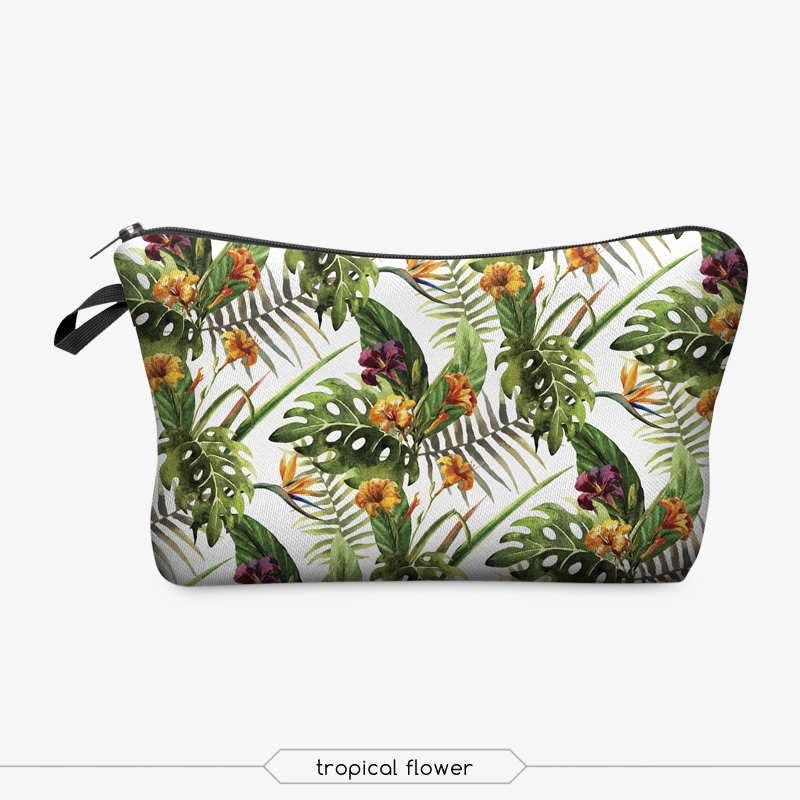 Jom Tokoy 3D Printing Makeup Bags With Multicolor Pattern Cute Cosmetics Pouchs For Travel Ladies Pouch Women Cosmetic Bag 14