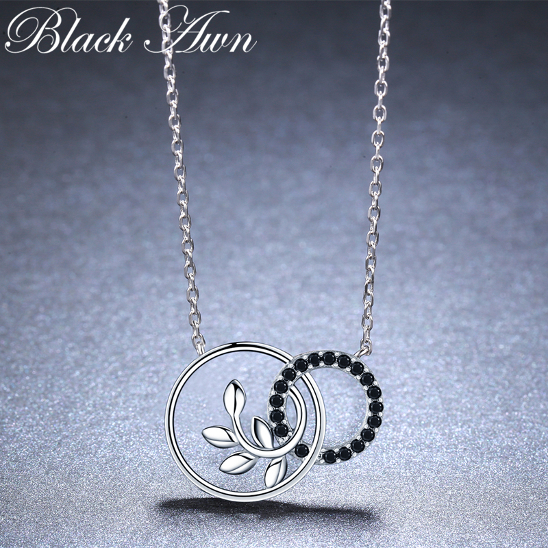 Round Plant Romantic Arrive 925 Sterling Silver Fine Jewelry Trendy Flower Engagement Necklaces & Pendants For Women K005